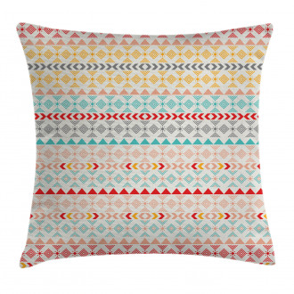 Boho Stripes and Shapes Pillow Cover