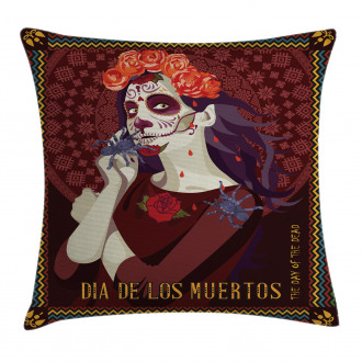 Spanish Festive Art Pillow Cover