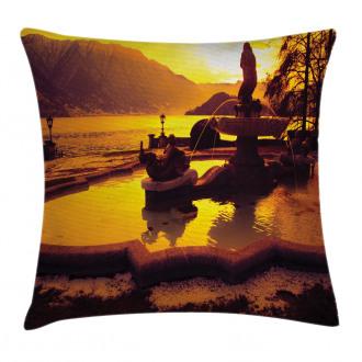 Mediterranean Sunset Pillow Cover