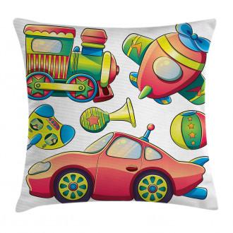 Balls Auto Tire Cartoon Pillow Cover
