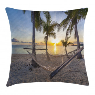 Paradise Beach Palms Pillow Cover