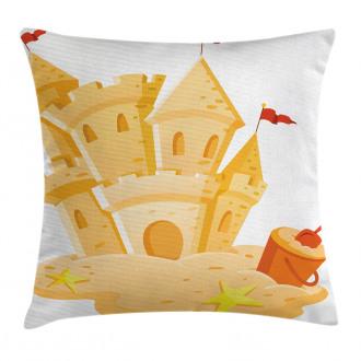 Sand Castle Kingdom Summer Pillow Cover