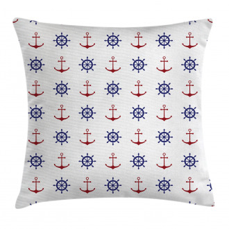 Anchors and Ship Wheels Pillow Cover