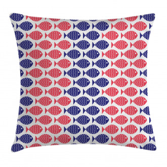 Nautical Fish Theme Design Pillow Cover