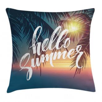 Tropic Paradise Beach Pillow Cover