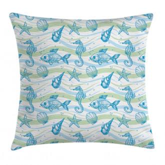 Ocean Shell Starfish Pillow Cover