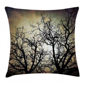 Grunge Branches Twilight Pillow Cover