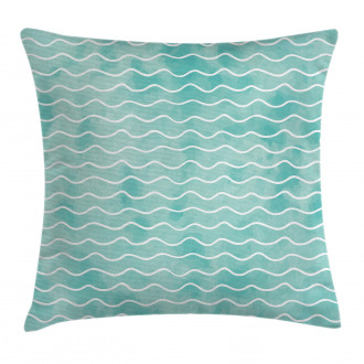 Ocean Sea Wave Pattern Pillow Cover