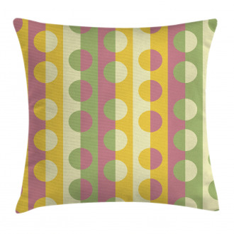 Retro Geometric Stripe Pillow Cover
