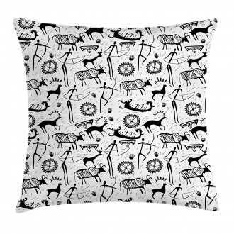 African Pattern Animal Pillow Cover