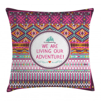 Tribal Striped Geometric Pillow Cover