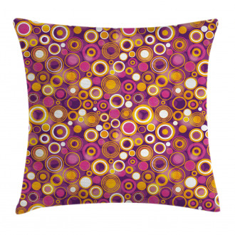 Vintage Circles Round Pillow Cover