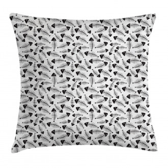 Funny Fish Bone Abstract Pillow Cover