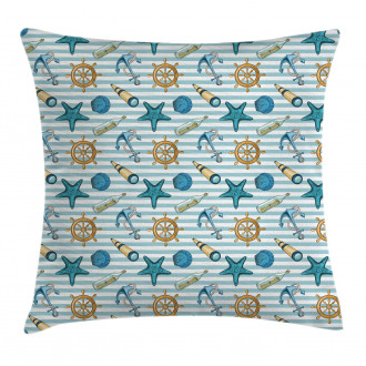 Anchor Wheel Starfish Pillow Cover