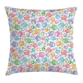 Funny Fish Aquaic Motif Pillow Cover