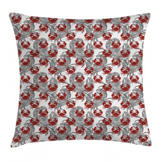 Illustration of Crab Pillow Cover