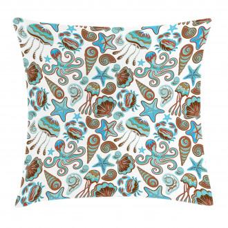Crabs Octopus Shells Sea Pillow Cover