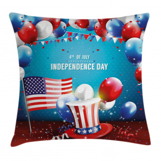 Uncle Sam Hat Flag Pillow Cover