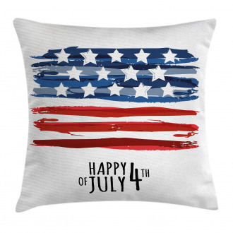 Artistic US Flag Pillow Cover