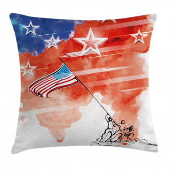 Watercolor Historic Pillow Cover