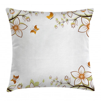 Leaves Branches Buds Pillow Cover