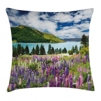 Lake Floral Petals Pillow Cover
