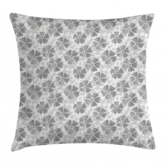 Digital Flower Petals Pillow Cover