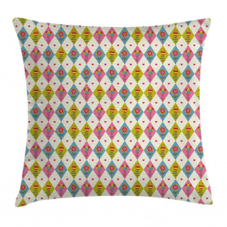 Geometric Tulips Pattern Pillow Cover