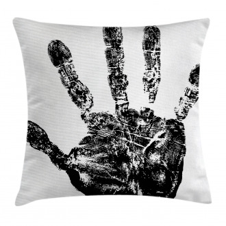 Grunge Motley Hand Stamp Pillow Cover