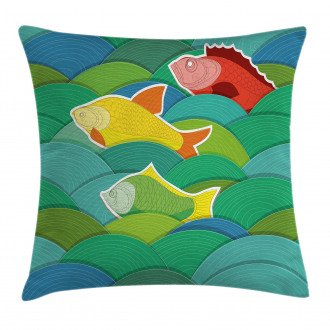 Sea Marine Waves Funky Pillow Cover