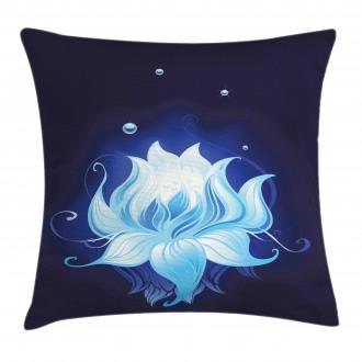 Zen Lotus with Dew Drops Pillow Cover