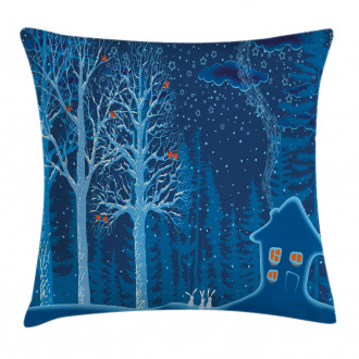 Winter Scenery with Show Pillow Cover
