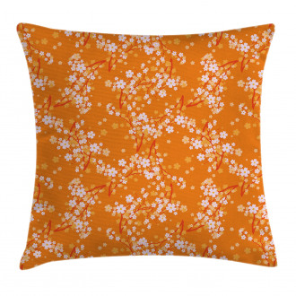 Vivid Blooms Spring Tree Pillow Cover
