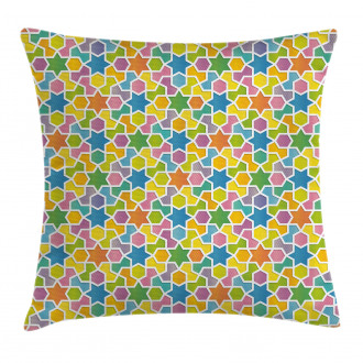 Star and Fractal Shape Pillow Cover