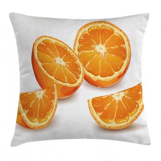 Health Orange Citrus Art Pillow Cover