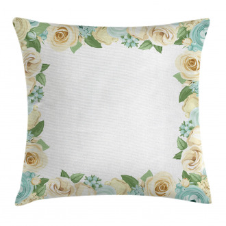 Flower Roses Leaves Pillow Cover