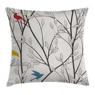Birds Wildlife Cartoon Pillow Cover