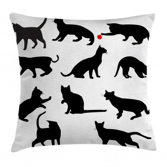 Red Ball Animal Pet Kittens Pillow Cover