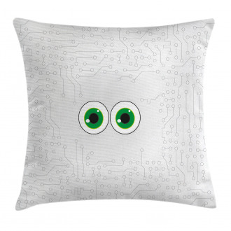 Eye Form Digital Picture Pillow Cover