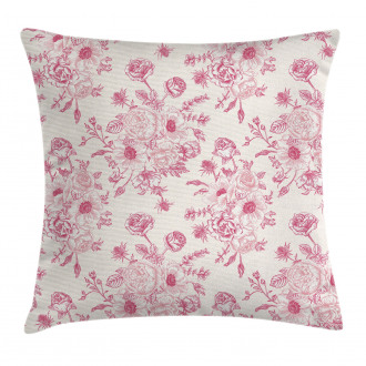 Romantic Rose Flowers Pillow Cover