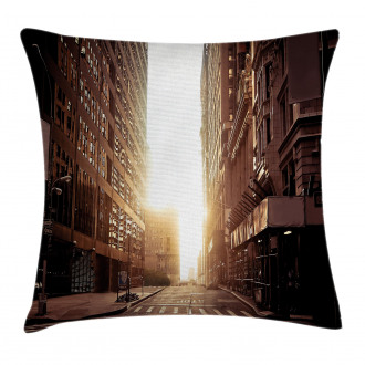 Early Morning Manhattan Pillow Cover