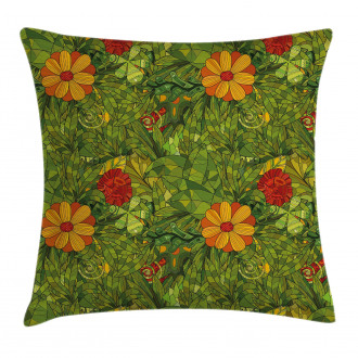Fractal Retro Jungle Art Pillow Cover
