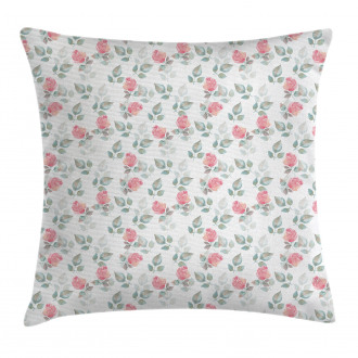 Rose Petals Blossoms Pillow Cover
