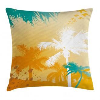 Funky Retro Vivid Palms Pillow Cover