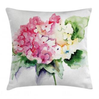 Hydrangea Flower Bouquet Pillow Cover