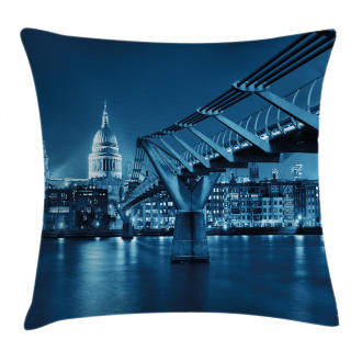 Night London Monument Pillow Cover