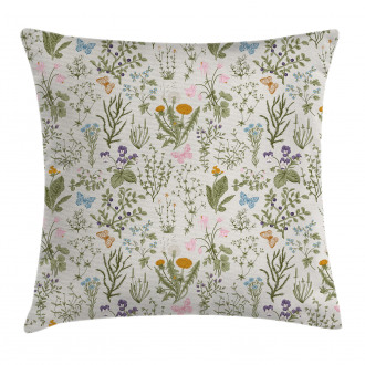 Vintage Garden Plants Pillow Cover