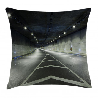 Interior Urban Tunnel Pillow Cover
