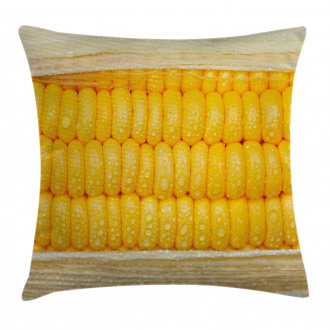 Corn Stem with Raindrops Pillow Cover