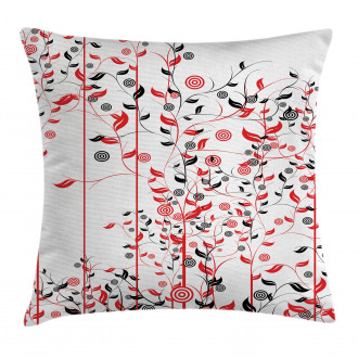 Flowers Ivy Swirl Leaves Pillow Cover